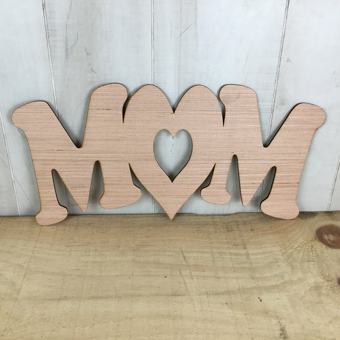 Mom With Heart Door Hanger Blank - Free Shipping