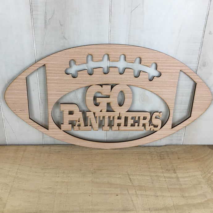 Go Panthers Football Door Hanger Blank - Local Pickup