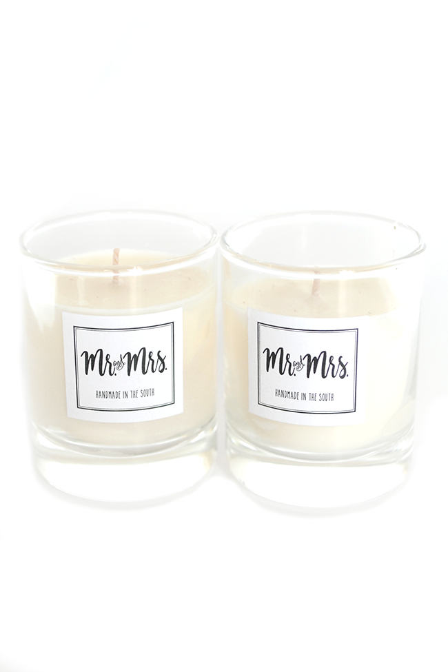 Mr + Mrs Votive Candle