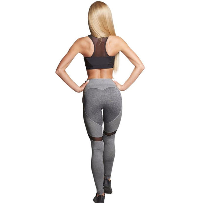 Heart Butt Mid Waist Sport Leggings