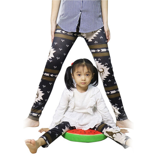 Floral Printed Parent-Child Pants
