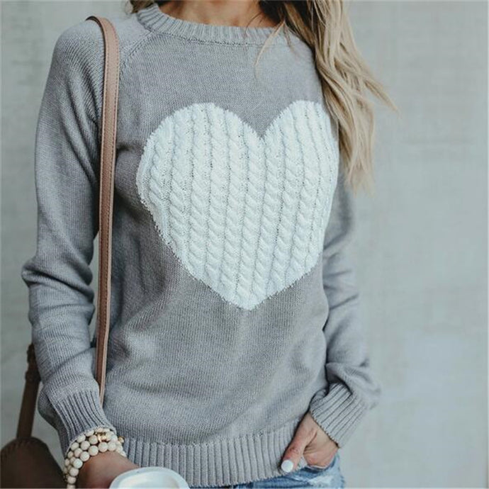Heart Knitted Pullover
