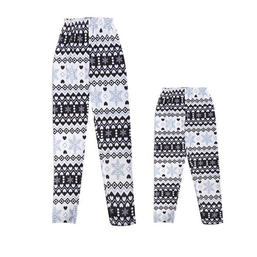 Mother Daughter Snowflake Leggings