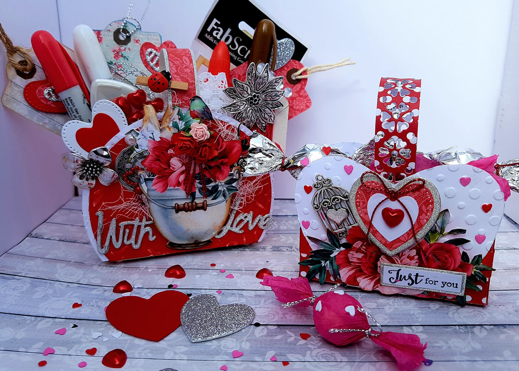 TUTORIAL: C127 TAKE A MOMENT VALENTINE'S DAY TREAT BASKETS BY LORRAINE HADDATH