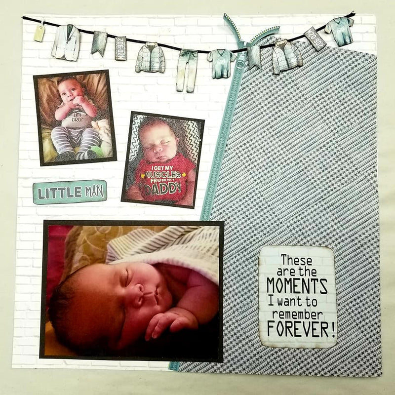 Layout Tutorial: Little Man by Candy Rosenberg