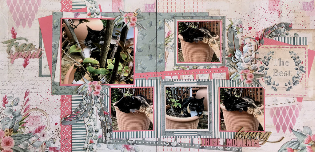 Tutorial: C114 Free Spirit Double Page Layout by Vanessa Bester