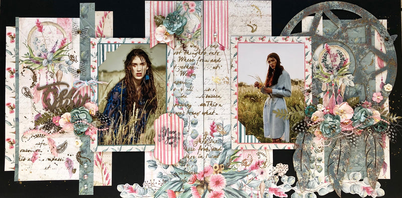 Tutorial: C114 Free Spirit Double Page Layout By Moira Gilowey