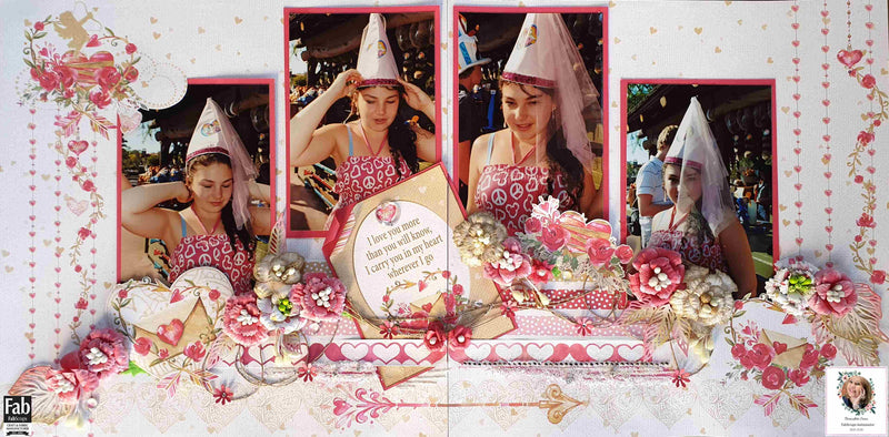Tutorial: C116 Love Story Double Page Layout By Bernadette Siena