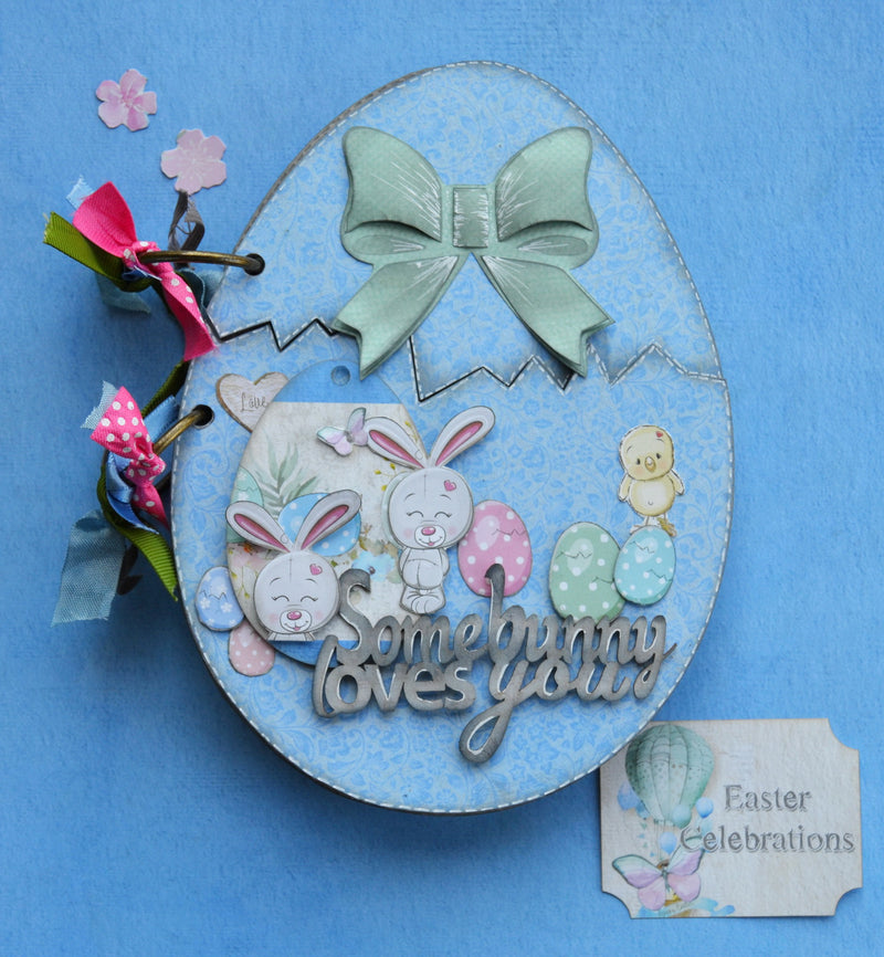 Tutorial: C115 Egg-Stravaganza Mini Album By Denise Van Deventer