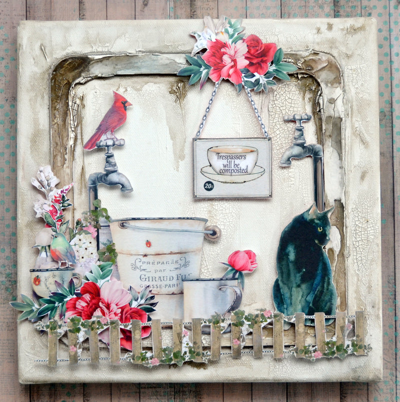 TUTORIAL: C127 TAKE A MOMENT MIXED MEDIA LAYOUT CANVAS BY DENISE VAN DEVENTER