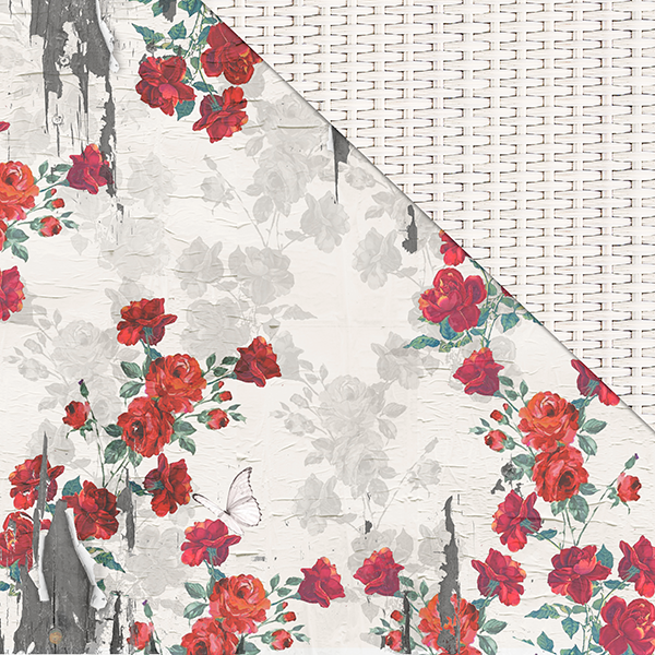 Life Is Beautiful (12'x12') Double-Sided Patterned Paper- Roses Are Red