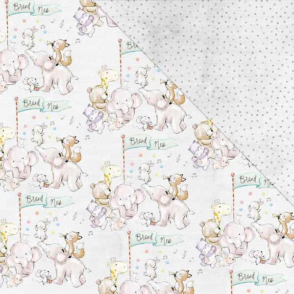Hello! I'm New 12'x12' Double-Sided Patterned Paper- Bundle Of Joy