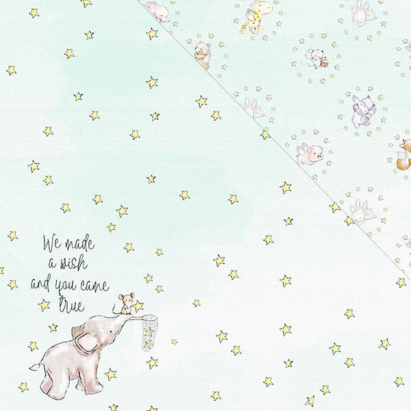 Hello! I'm New 12'x12' Double-Sided Patterned Paper- Wish Upon A Star