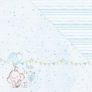 Hello! I'm New 12'x12' Double-Sided Patterned Paper- Well, Hello There