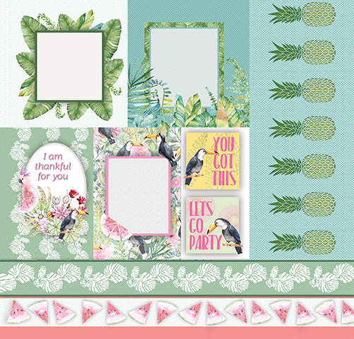 Pink Lemonade (12'x12') Double-Sided Patterned Paper- Feel The Serenity