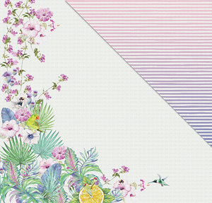 Pink Lemonade (12'x12') Double-Sided Patterned Paper- All Things Beautiful