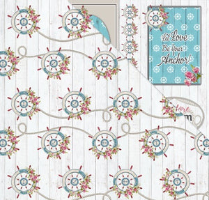 All Aboard (12'x12') Double-Sided Patterned Paper- Ocean Adventures