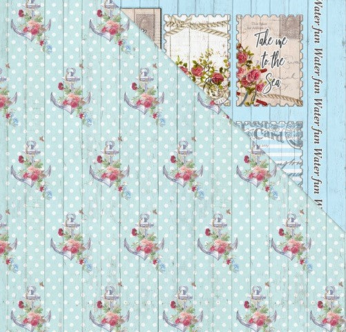 All Aboard (12'x12') Double-Sided Patterned Paper- Sail Away With Me