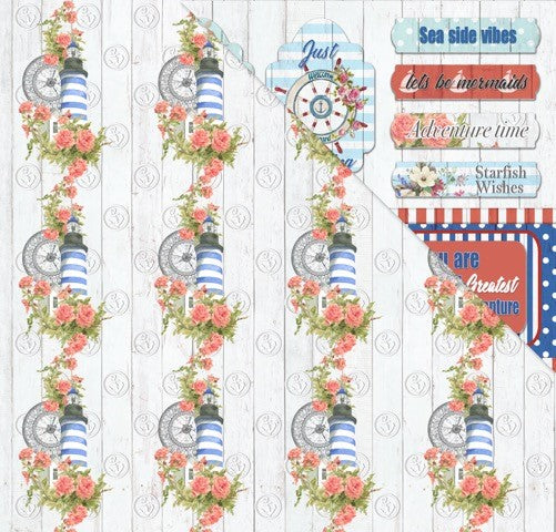 All Aboard (12'x12') Double-Sided Patterned Paper- Ocean Views