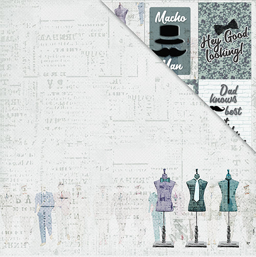 Men Only 12'x12' Double-Sided Patterned Paper- A Good Man