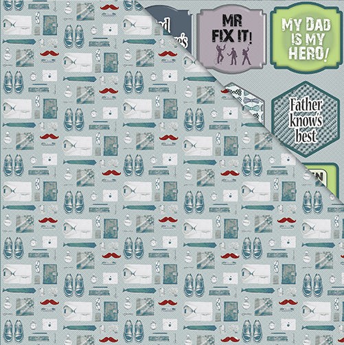 Men Only 12'x12' Double-Sided Patterned Paper- A Man Of Few Words