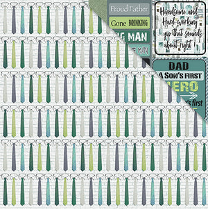 Men Only 12'x12' Double-Sided Patterned Paper- Father Knows Best