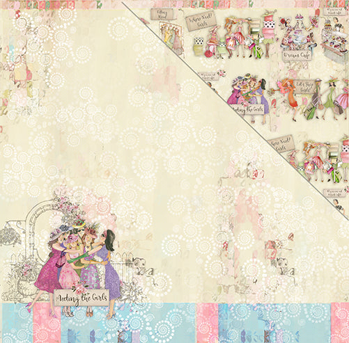 Book Club 12'x12' Double-Sided Patterned Paper- Dream Cafe
