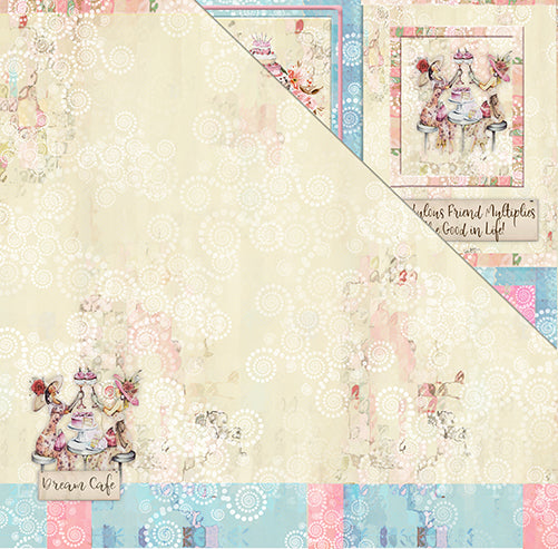 Book Club 12'x12' Double-Sided Patterned Paper- Dessert Anyone?