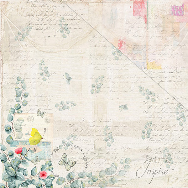 Free Spirit (12x12) 170gsm patterned paper- Secret Garden