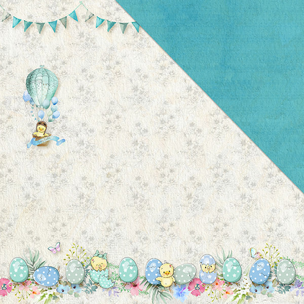 Egg-Stravaganza (12x12) 170gsm patterned paper- Every bunny Welcome