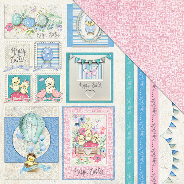 Egg-Stravaganza (12x12) 170gsm patterned paper- Sweet Treats