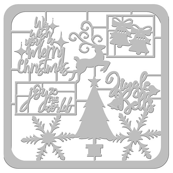 Holly Jolly Christmas Die-Cut Frame