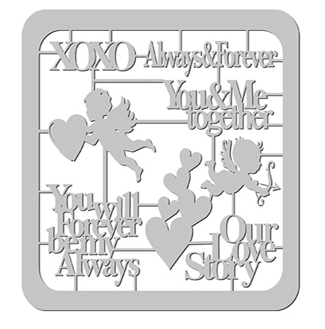 Love Story Die-Cut with Frame