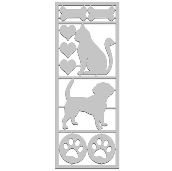 Cats & Dogs Die-Cut with Frame
