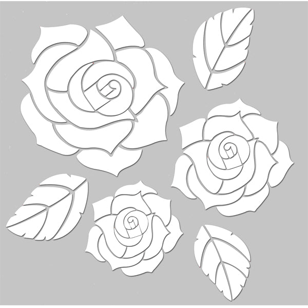 Days Gone By Clear Stencil - Three Roses