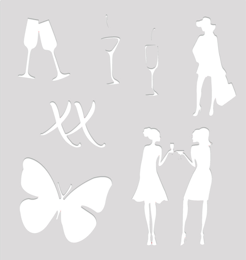 PVC Stencil- Butterfly Kisses