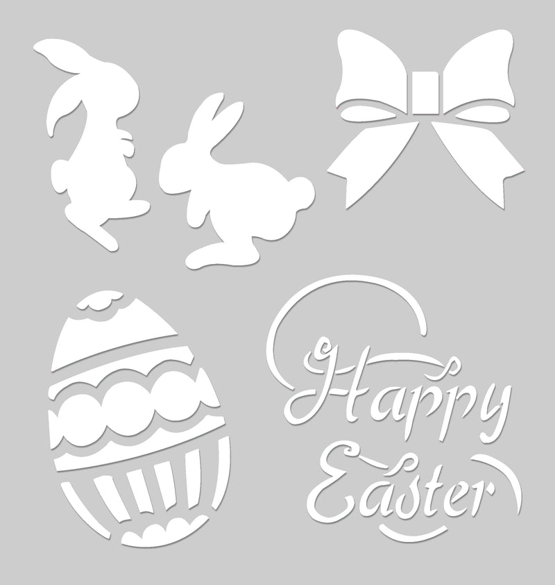 8x8 PVC Stencil - Happy Easter