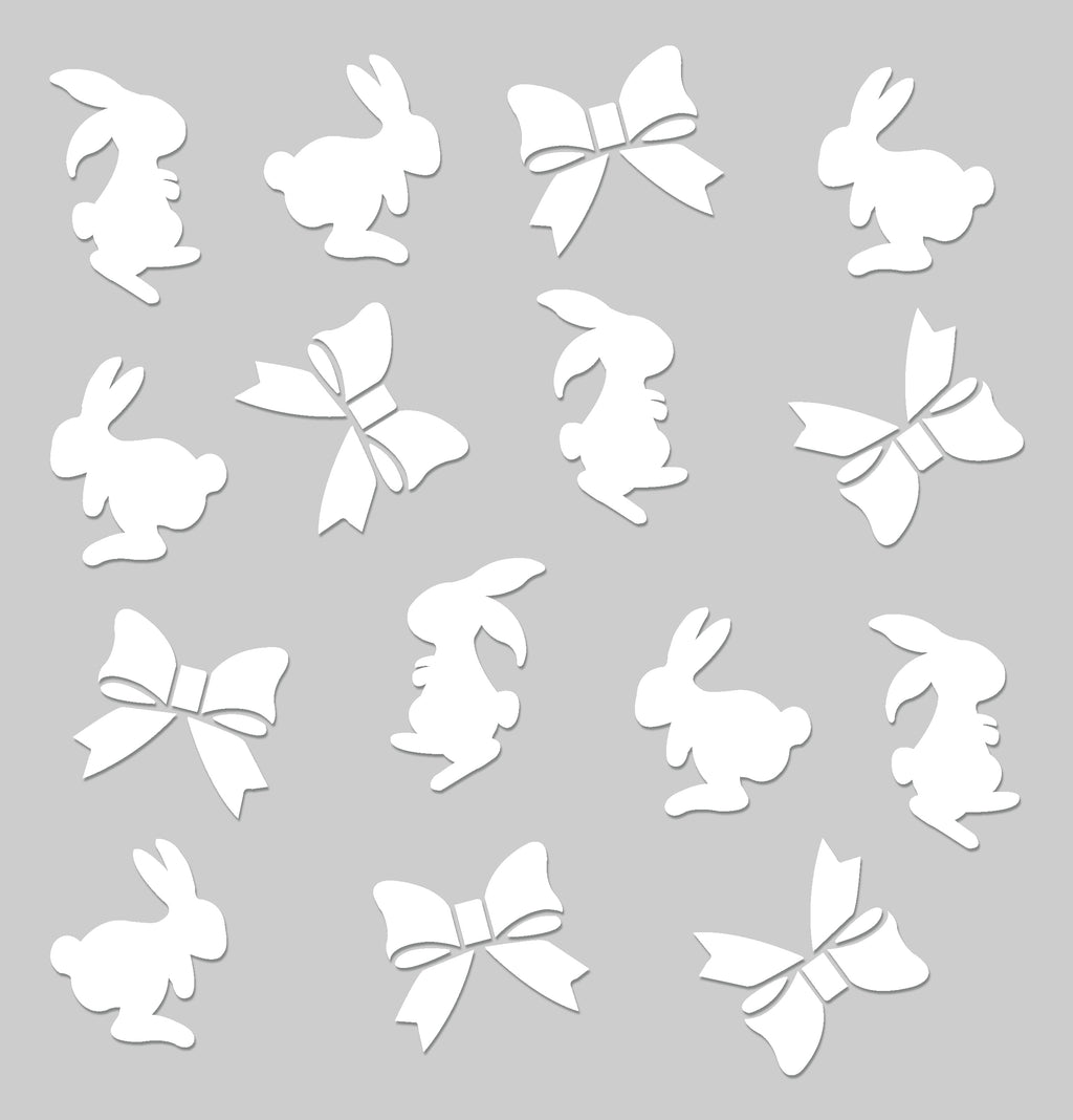 8x8 PVC Stencil - Bunny and Bow