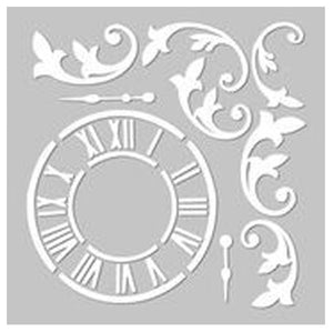 Whimsical Clock Stencil