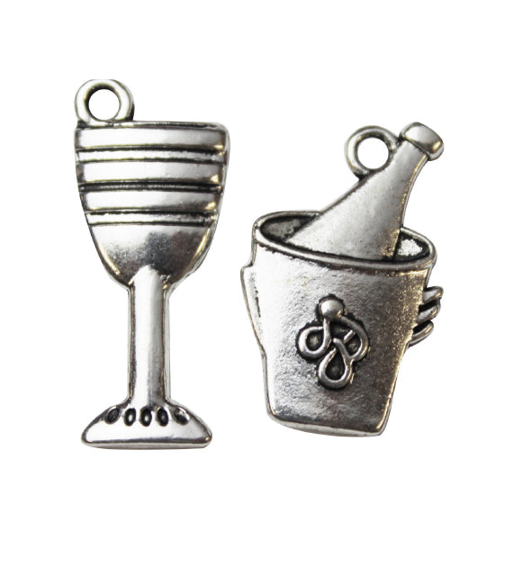 Silver Charms- Wine Goblet & Ice Bucket