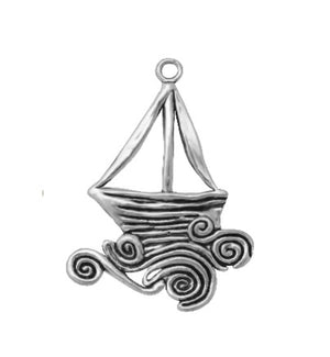 Silver Charms- Filigree Yacht
