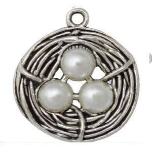 Silver Charms- Small Birds Nest