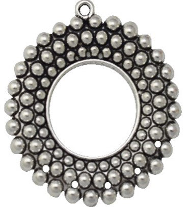 Silver Charms- Large Circle
