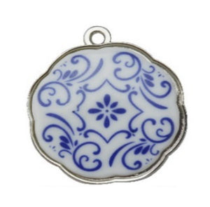 Silver Charms- Floral Circle