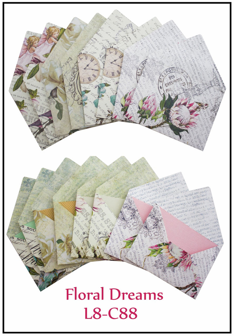 Floral Dreams Lazy 8 Card Kit