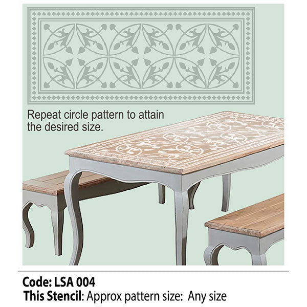 Table and Floor Rug Stencil- Circle
