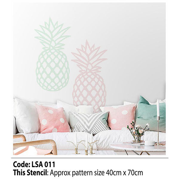 Pineapple Wall Stencil