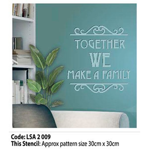 Family Wall Stencil