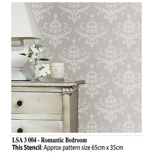 Romantic Bedroom Stencil