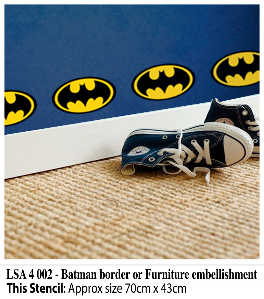 Batman Border Wall and Furniture Stencil